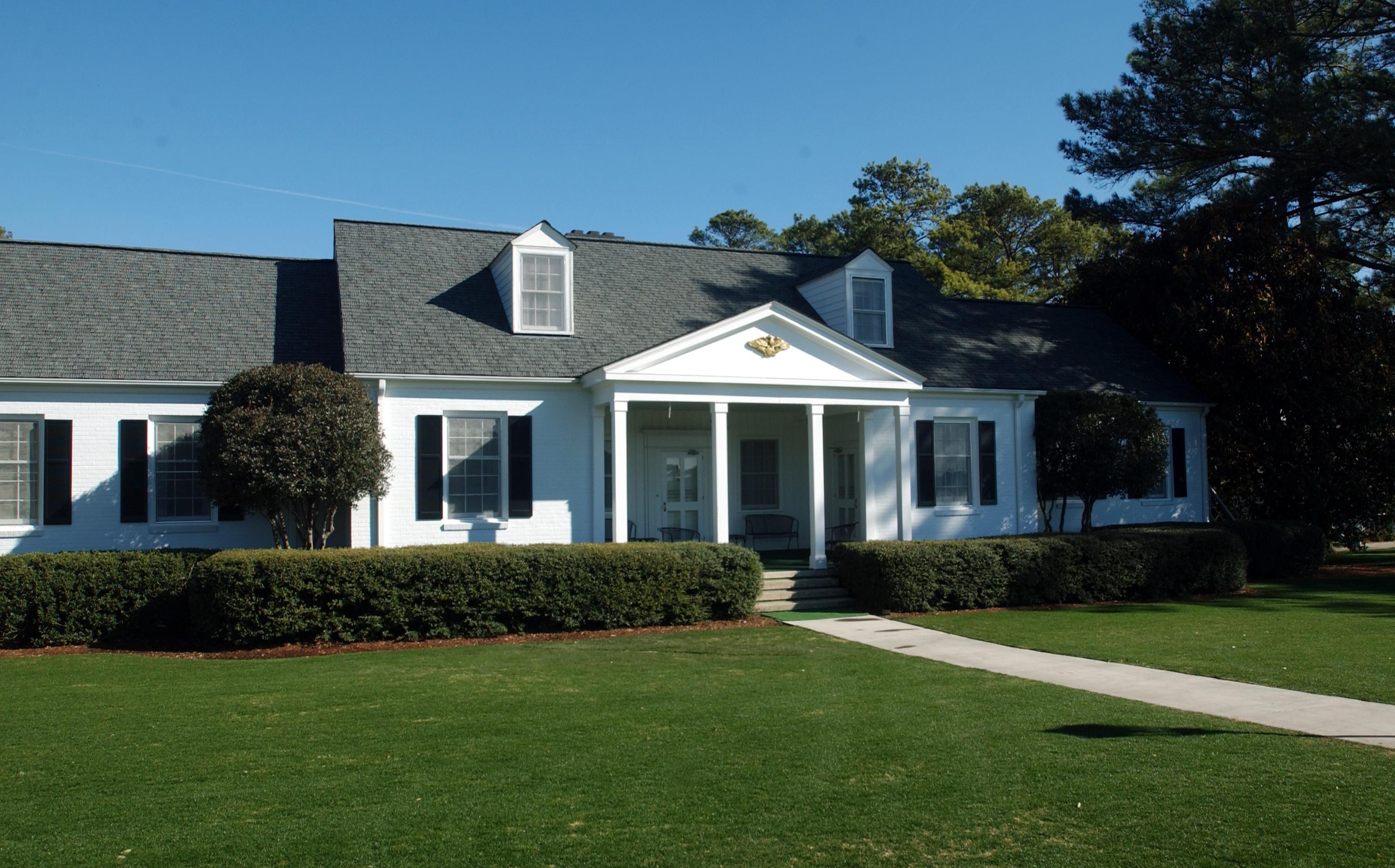 Eisenhower Cabin, named after President Dwight D. Eisenhower, is undergoing an extensive restoration at Augusta National Golf Club. [FILE/STAFF]
