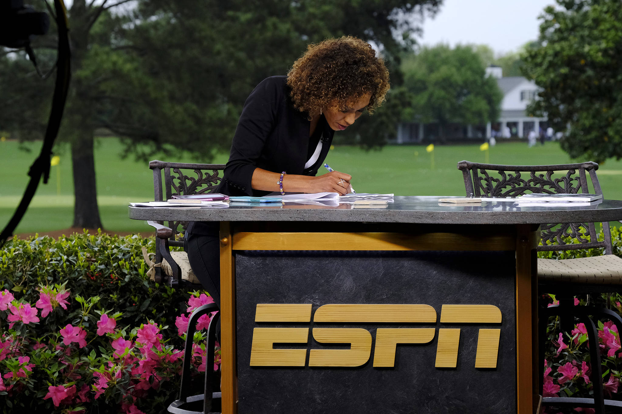 Espn S Sage Steele Awed By First Masters Appearance 2021 Masters