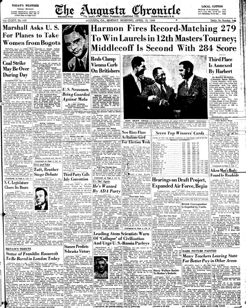 1948: Claude Harmon gets only pro win at Masters