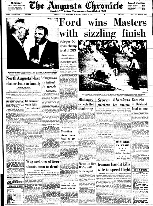 1957: Doug Ford surprises to win first Masters