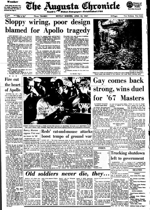 1967: Gay Brewer Jr. wins Masters