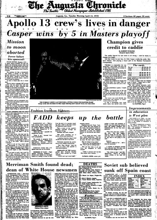 1970: Billy Casper putts way to first Masters win