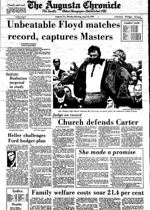 1976: Ray Floyd cruises to 8-shot Masters win
