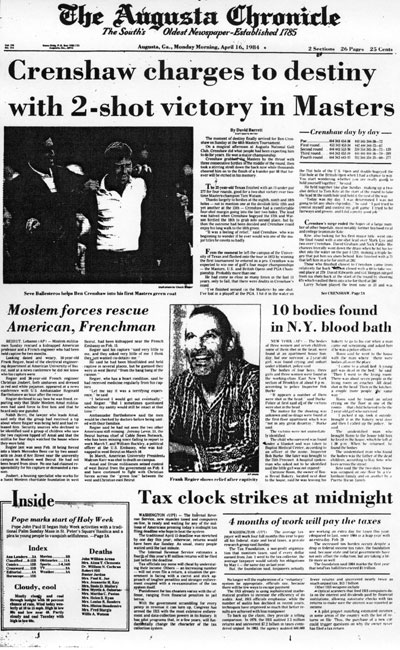 1984: Ben Crenshaw earns first Masters title