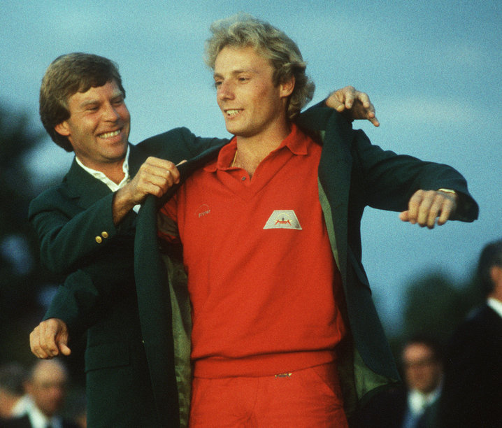 1985: Bernhard Langer uses weekend 68s to win Masters