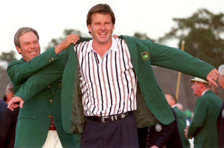 1996: Nick Faldo makes up six shot deficit to win Masters