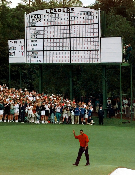 1997: Tiger tracks into history with Masters win