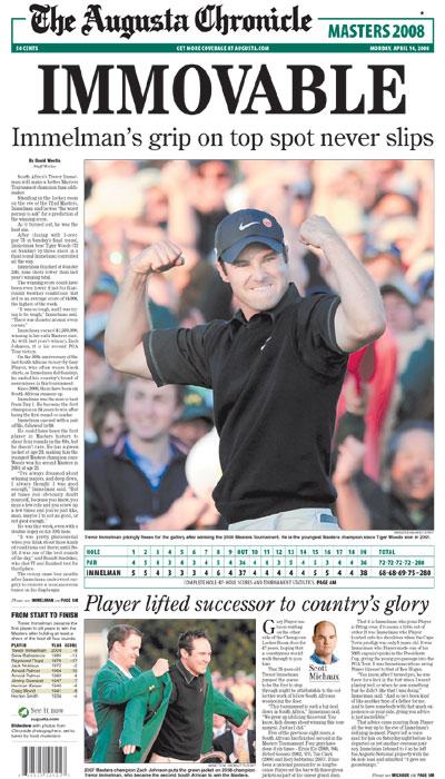 2008: Trevor Immelman youngest Masters winner since Tiger
