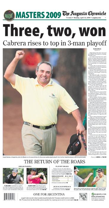 2009: Angel Cabrera avenges De Vicenzo's Masters loss