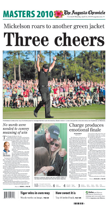 2010: Phil Mickelson roars to third Masters win