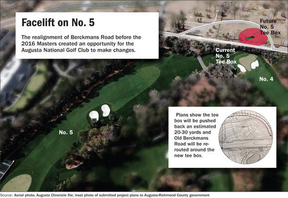 Site plans show proposed changes for fifth hole at Augusta National