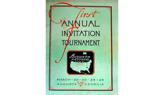A program from the first Masters Tournament, similar to this one, sold for $4,555.20 at auction.