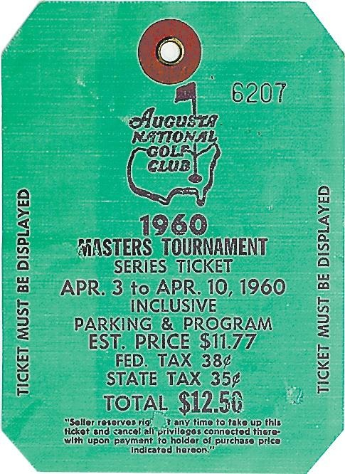 Masters Badges Are Ticket Treasures 2021 Masters