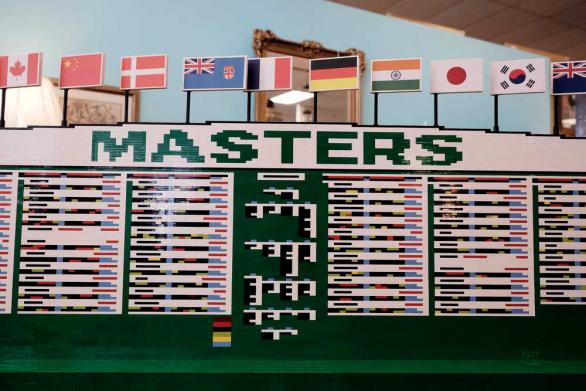Architect builds Lego replica of Masters leaderboard