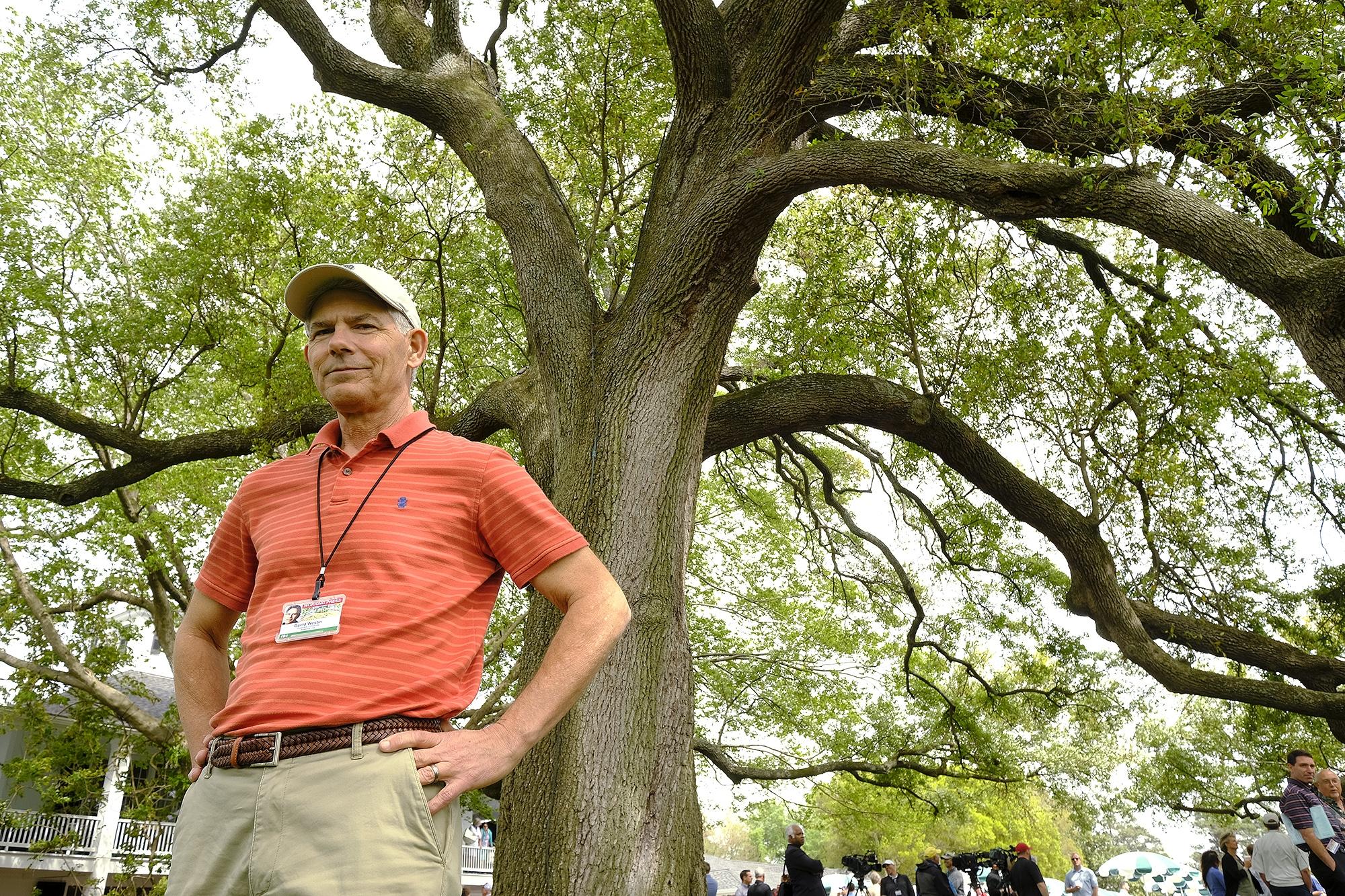 Chronicle writer David Westin receives Masters Major Achievement Award